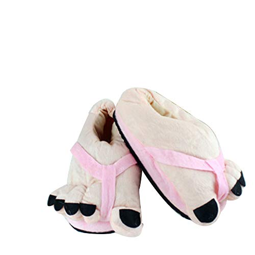 de Unica marrón Marrón Zapatillas para de Talla Mujer casa Estar Rosa Terciopelo por ILPjswu 75dvzxwz
