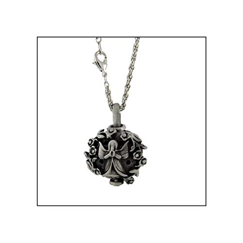 Melonie Home Pewter Angel Diffuser Necklace Aromatherapy Pomander - Renaissance