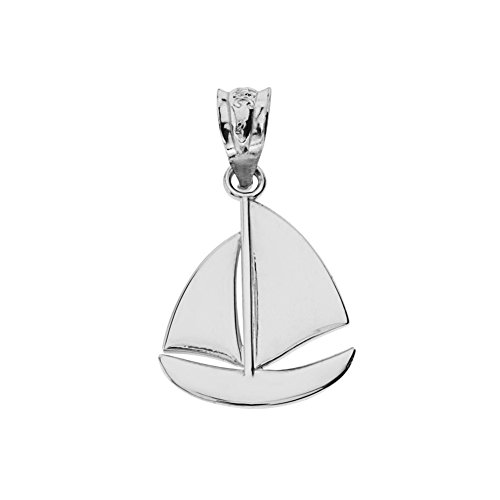 Fine Sterling Silver Nautical Sailboat Charm Pendant