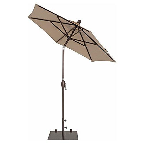Patio Umbrella - TrueShade Plus Market Umbrella Garden Parasol with Push Button (Patio Market Umbrella Base)