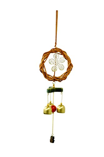 FancyteHandcrafted Bell Wind Chime Soothing Melodic Tones and Gift Essentials,Beautiful Home Decor Indoor Outdoor Patio,Garden Backyard Gift Exclusive Pirate's Decor Collectibles Made Wild (Wine God Costume)
