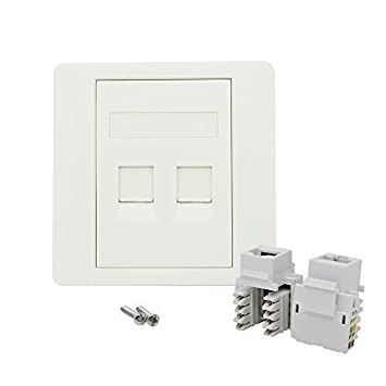 cat5e double socket rj45 ethernet network face plate amazon co uk cat5e double socket rj45 ethernet network face plate