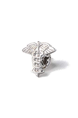 Men's Premium Metal Caduceus Emblem Medical Lapel Pin ()