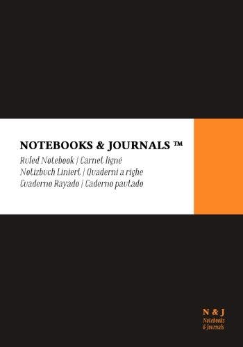 Notebooks & Journals, Extra Large, Ruled, Black, Soft Cover (7 x 10): (Classic Notebook, Journal, Sketchbook, Diary, Composition Notebook)