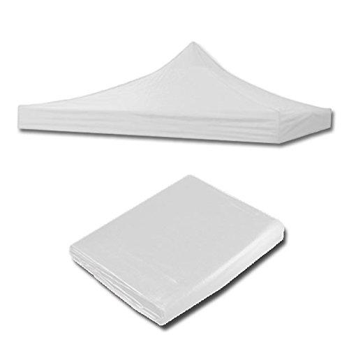 ilios innova Lona Impermeable para toldo 2x2 / 3x3 / 3x6 encolores difererentes, Materiales Resistentes (Blanca, 3x3)