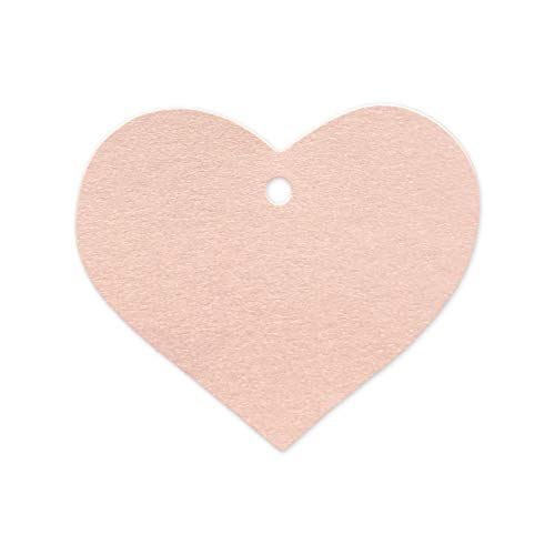 Pearl Heart Tag - LWR Crafts 100 Hang Tags Heart with Jute Twines 100ft (2 3/8