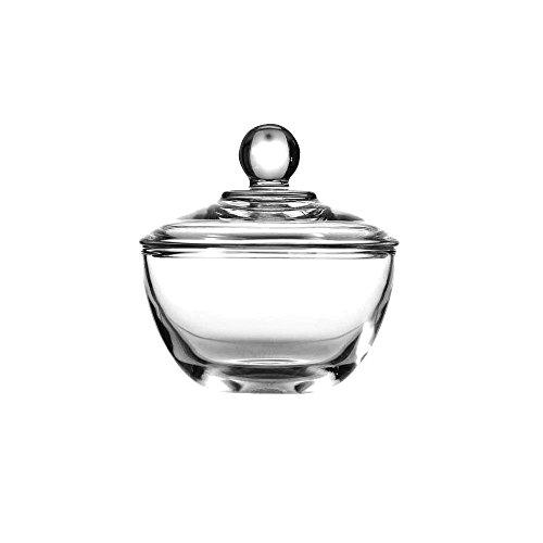 (Anchor Hocking 64192B Presence 8 oz Glass Sugar Dish w/ Cover - 4 / CS)