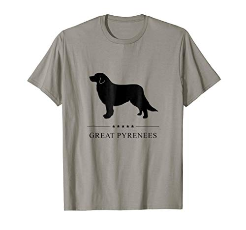 Great Pyrenees Shirt: Black Silhouette -