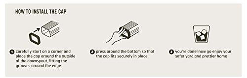 Downspout Safety Cap 2x3 4pk Black