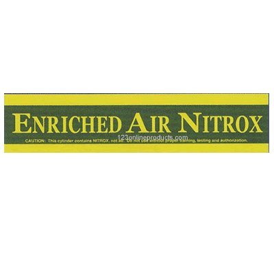 Trident 23 Inch Large Enriched Air Nitrox Tank Sticker