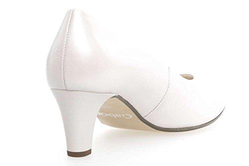 De Gabor Vestir Blanco Zapatos Lisa Piel Para Mujer UqpVGSzM