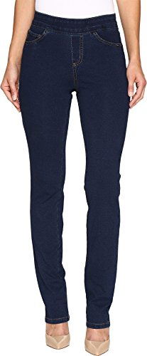 FDJ French Dressing Jeans Women's Comfy Denim Wonderwaist Pull-On Straight Leg in Indigo Indigo Jeans