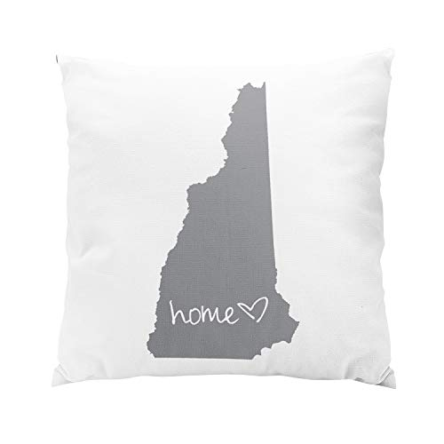 Wesbin Home New Hampshire Modern Hidden Zipper Home Sofa Decorative Throw Pillow Cover Cushion Case Inch 26x26 European Square Two Sides Design Printed Pillowcase