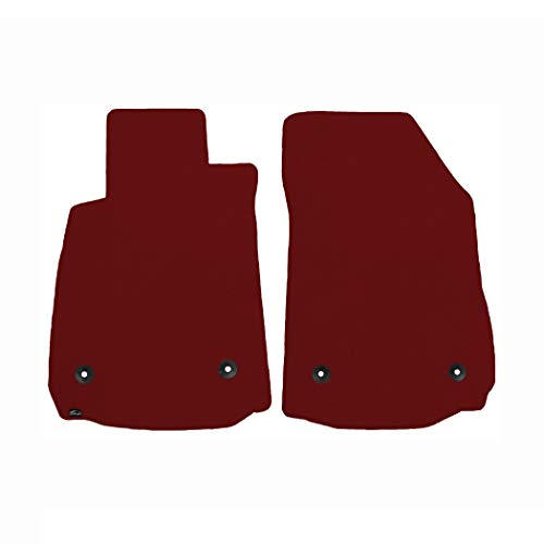 Brightt (MAT-OKC-063) 2 Pc Front Floor Mats - Red Classic Carpet - compatible for 1969-1971 Alfa Romeo GT Veloce (1969 1970 1971 | 69 70 71)]()