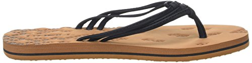 O'Neill Fw 3 Strap Ditsy Flip Flop - Chanclas Mujer Noir (Black Out)