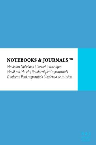 Musician Notebook, Pocket, Sky Blue, Soft Cover (4 X 6): (Blank Sheet Music, Music Manuscript Paper, Staff Paper)