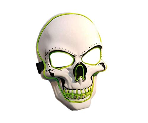 Mask Led Light up Halloween Ghost Mask Ghost Cosplay Mask Creepy Scary Mask Party Prop (Without -