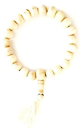 OMA Tibetan Buddhist Zen Bone Carved Bracelet For Meditation & Yoga - Hand Strung By Tibetan Refugees - Unisex BRAND