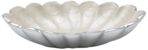 Julia Knight Peony Snow - Julia Knight Peony Oval Bowl, 8-Inch, Snow, White