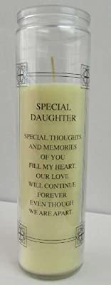 Remembrance Candle Graveside Memorial Candle In Loving Memory Of My Daughter