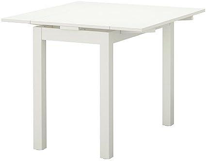 Ikea BJURSTA - Mesa Extensible, Blanco - 50/70 / 90x90 cm: Amazon ...