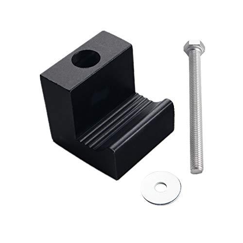 DEWHEL Tool Box Tie Downs Aluminum J Hook Crossover Toolbox Pickup Pair (4 PCS, Black) by DEWHEL (Image #1)