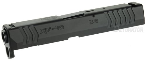 DETONATOR 東京マルイ XDM用 SFA XD(M)3.8 40SW刻印仕様 カスタムスライド-ブラック B0756X33MN