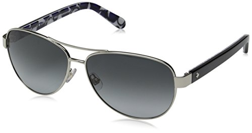 Kate Spade Women's Dalia 2 Aviator, Silver Dots & Gray Gradient, 135 - Spade Gray Sunglasses Kate