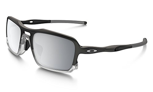 Oakley Men's (a) Triggerman OO9314-05 Non-Polarized Iridium Rectangular Sunglasses, Matte Black, 58.5 - Fit Oakley Asian Polarized