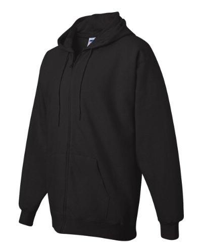 Hanes nbsp;ultimate 90 Full 10 Cotton Zip Hood 2oz Nero 10 Flc13TKJ