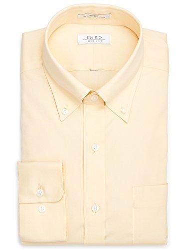 Enro Pinpoint - Enro Non-Iron Newton Pinpoint Button Down Collar Yellow Dress Shirt (Yellow, 16.5 32/33)