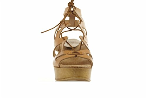 Lince Pelle Cuneo Romana Camel Shoes