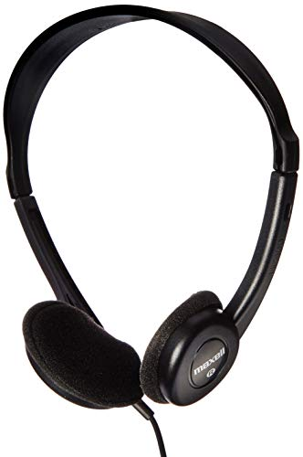 Maxell 190319 Stereo Headphone, Black  (Packaging May -