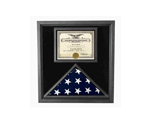 Retirement-Flag-Medal-Display-Box-Shadow-Box-Flag-Box-Hand-Made-by-Veterans