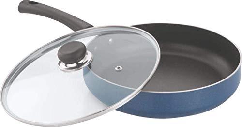 Vinod Zest Non Stick Deep Fry Pan with Glass Lid  28 cm