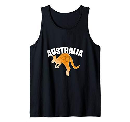 Australian Kangaroo Shirt Australia Souvenir Jumping Tank Top -