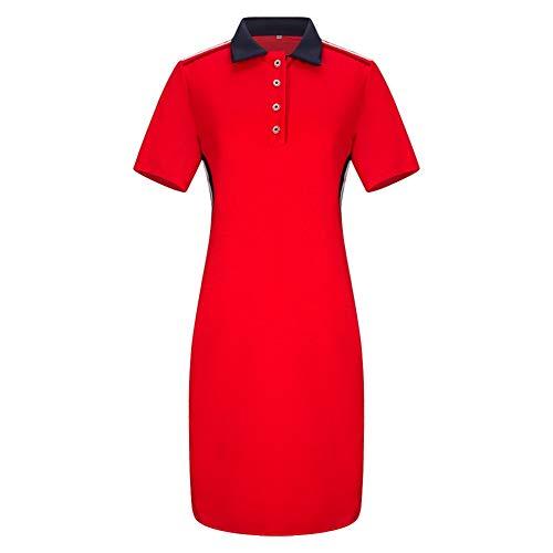 (ShinFashion Women Plus Size T Shirt Polo Collar Casual Pique Short Sleeve Midi Dress,XL-6XL)