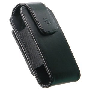 Leather Vertical Swivel Holster (OEM) for BlackBerry Curve 8520 (Black)