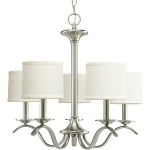 Progress Lighting P4635-09 Inspire Collection 5-Light Chandelier, Brushed Nickel