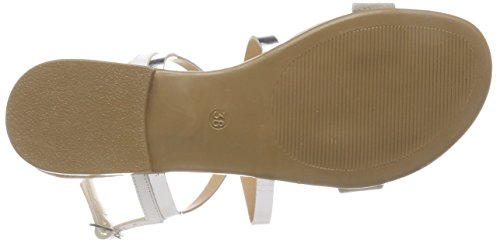 con ESPRIT mujer el Tosha 090 correa Plateado color tobillo para gris para Sandalias de dCqwTpzdx