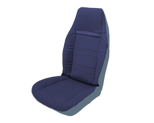 (Acme U102-L015M Front Light Blue Vinyl Bucket Seat Upholstery with Blue Velour Inserts )