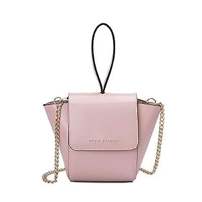 Melie Bianco Adele Vegan Leather Ring Wristlet Crossbody Bag, Blush