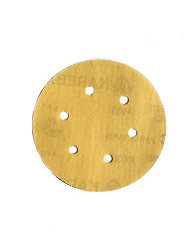 H400 Gold Hook & Loop Aluminum Oxide 400 Grit C-Weight Paper (50 Pack), 6
