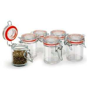 Amazon Com Danesco Mini Jar Set Wire Bail 30 Ml