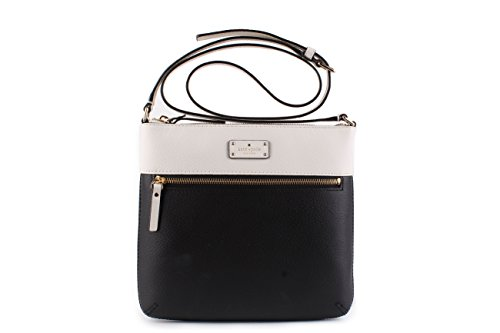 New Black Leather Bag Cement Crossbody Kate Rima Laurel York Way Spade vxq45wqR
