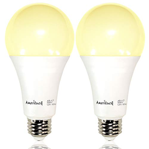 AmeriLuck 50/100/150W Equiv. A21 LED 3-Way Light Bulb 2200 Lumens 2700K Soft White (2 Pack) ()