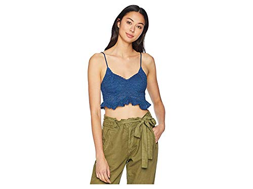 - Free People Women's Fleur De LYS Crop Cami Navy Large