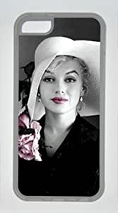 Famous American Actress Marilyn Monroe Wear Hat Customized Rubber Transparent iphone 5C Case By diycenter Your Best Choice
