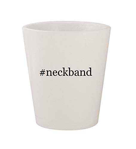 #neckband - Ceramic White Hashtag 1.5oz Shot Glass