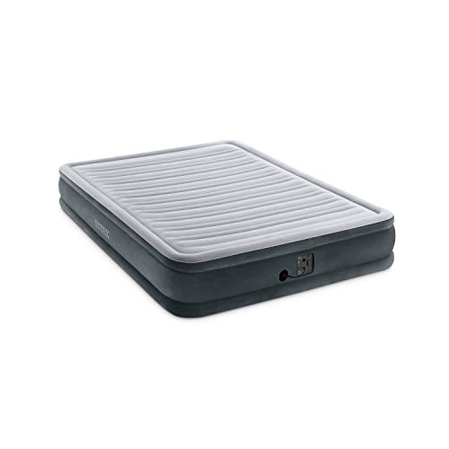 Air Mattress - Intex Comfort Plush Mid Rise Dura-Beam Airbed with Internal Electric Pump, Bed Height 13